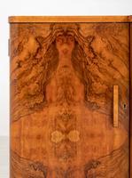 Superb Art Deco Figured Walnut Sideboard (4 of 8)