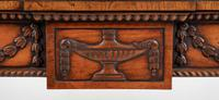 Oak Carved & Inlaid Console Table (3 of 6)
