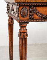 Oak Carved & Inlaid Console Table (4 of 6)
