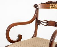 Set of 8 Regency Style Rosewood Brass Inlaid Dining Chairs c.1920 (11 of 16)