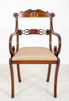 Set of 8 Regency Style Rosewood Brass Inlaid Dining Chairs c.1920 (9 of 16)