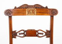 Set of 8 Regency Style Rosewood Brass Inlaid Dining Chairs c.1920 (3 of 16)