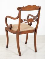 Set of 8 Regency Style Rosewood Brass Inlaid Dining Chairs c.1920 (14 of 16)