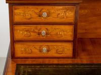 Satinwood Sheraton Design Carlton House Type Desk (6 of 15)