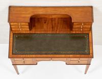Satinwood Sheraton Design Carlton House Type Desk (14 of 15)