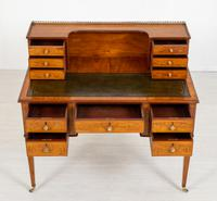 Satinwood Sheraton Design Carlton House Type Desk (5 of 15)