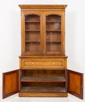 Victorian Blonde Oak Bookcase c.1860 (3 of 8)
