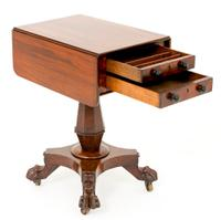 William IV Mahogany Sewing Table (6 of 8)