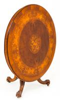 Superb Victorian Walnut & Marquetry Centre Table (9 of 10)