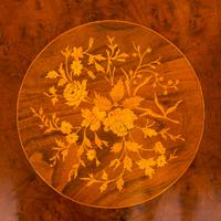 Superb Victorian Walnut & Marquetry Centre Table (7 of 10)