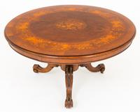 Superb Victorian Walnut & Marquetry Centre Table (5 of 10)