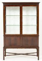 Mahogany 2 Door Display Cabinet c.1900