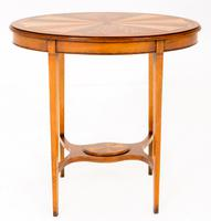 Sheraton Revival Oval Mahogany Occasional Table