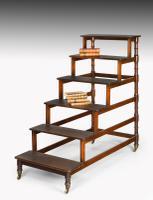 Set of Regency Period Mahogany Library Steps
