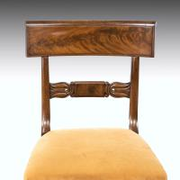 Good Set 6+1 of William IV Mahogany Framed Chairs (6 of 6)