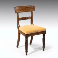 Good Set 6+1 of William IV Mahogany Framed Chairs (3 of 6)