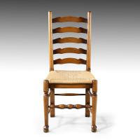 Very Sturdy Set Mid 20th Century of 6 Ladderback Country Chairs (2 of 7)