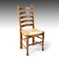 Very Sturdy Set Mid 20th Century of 6 Ladderback Country Chairs (4 of 7)