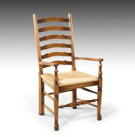 Very Sturdy Set Mid 20th Century of 6 Ladderback Country Chairs (7 of 7)