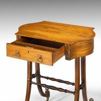 Elegant Regency Period Work Table (4 of 9)