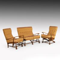 Charming Mid 20th Century Three Piece Cottage Suite (3 of 7)
