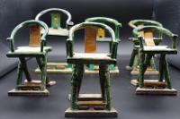 Small Collection of 15th Century Ming Period Funeral Chairs