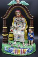 Important Early 19th Century Staffordshire Pair of Elijah & Wife (7 of 8)