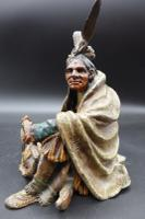 Beautifully Modelled Early 20th Century Bronze of a Medicine Man by Carl Kauba (2 of 6)