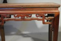 Early 20th Century Pair of Strongly Designed Elm Half Tables (2 of 6)