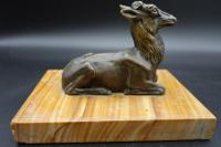 Well Modelled Early 20th Century Continental Bronze Model of a Recumbent Goat (4 of 6)