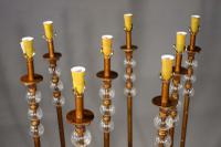 Highly Unusual Set of 8 French Floor Standing Candelabras (4 of 7)