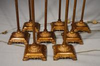 Highly Unusual Set of 8 French Floor Standing Candelabras (5 of 7)