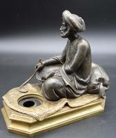Well Modelled Late 19th Century Bronze of a Snake Charmer (4 of 4)