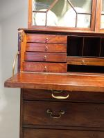 Very Good Chippendale Period Mahogany Secretaire Bookcase (10 of 11)