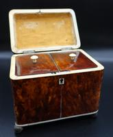 Good Regency Period Tortoiseshell Tea Caddy (2 of 7)