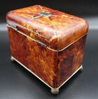 Good Regency Period Tortoiseshell Tea Caddy (5 of 7)