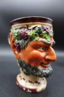 Well Modelled Mid 19th Century Bacchus Pottery Jug (4 of 5)