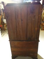 Small Chippendale Period Glazed Bookcase on Chest (3 of 10)