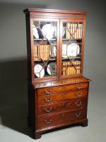 Small Chippendale Period Glazed Bookcase on Chest (10 of 10)