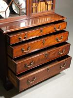 Small Chippendale Period Glazed Bookcase on Chest (8 of 10)