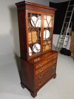 Small Chippendale Period Glazed Bookcase on Chest (2 of 10)