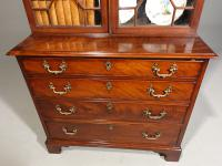 Small Chippendale Period Glazed Bookcase on Chest (4 of 10)