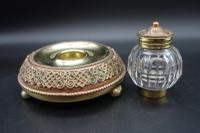 Finely Cast Early 20th Century French Copper, Bronze & Brass Inkwell (5 of 5)