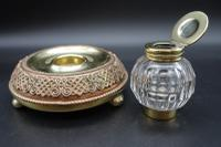 Finely Cast Early 20th Century French Copper, Bronze & Brass Inkwell (4 of 5)