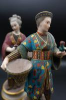 Charming Pair of Early 20th Century Meissen Figures in Oriental Garb (2 of 5)