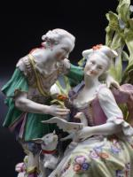 Complex Late 19th Century Meissen Group of Lovers (4 of 6)