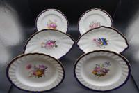Fine Set of 6 Late 18th Century Derby Plates Painted by William Billingsley