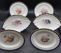 Fine Set of 6 Late 18th Century Derby Plates Painted by William Billingsley (4 of 15)