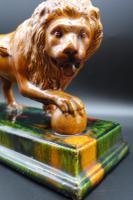 Late 19th Century Staffordshire Figure of Le Lion Qui Marche (5 of 5)