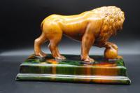 Late 19th Century Staffordshire Figure of Le Lion Qui Marche (3 of 5)